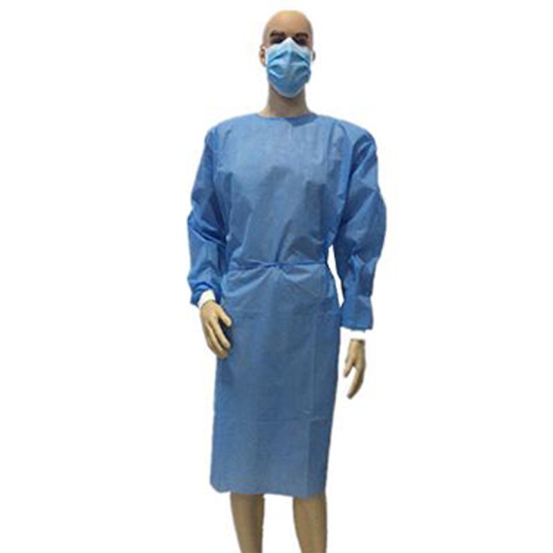 Disposable isolation surgical gown PP Non-Woven isolation gown with best price