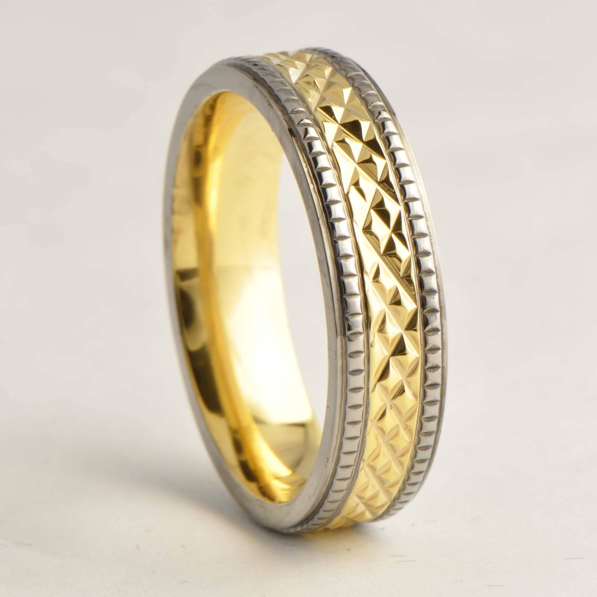 18K Gold Plated Titanium Wedding Rings For Women