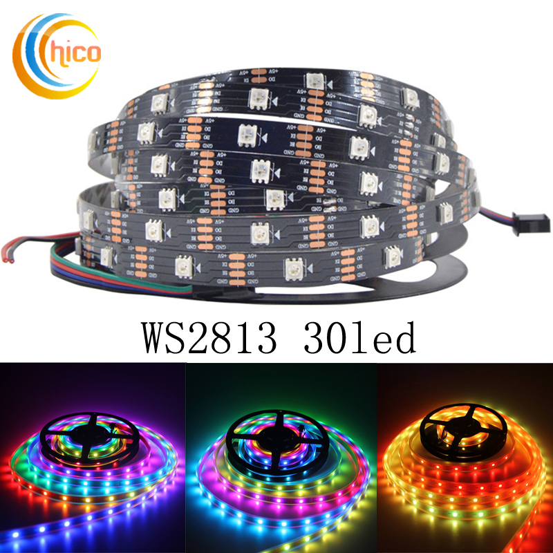 LED Strip WS2813 Smart Ribbon Light SMD 5050 RGB led strip IP20 IP65 IP67 (Breakpoint resume)