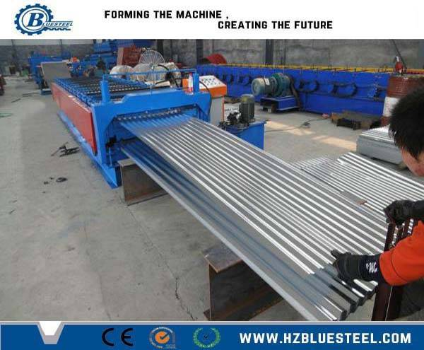 double layer profile roof tile making machine/ double deck corrugated and trapezoidal roof sheet rol