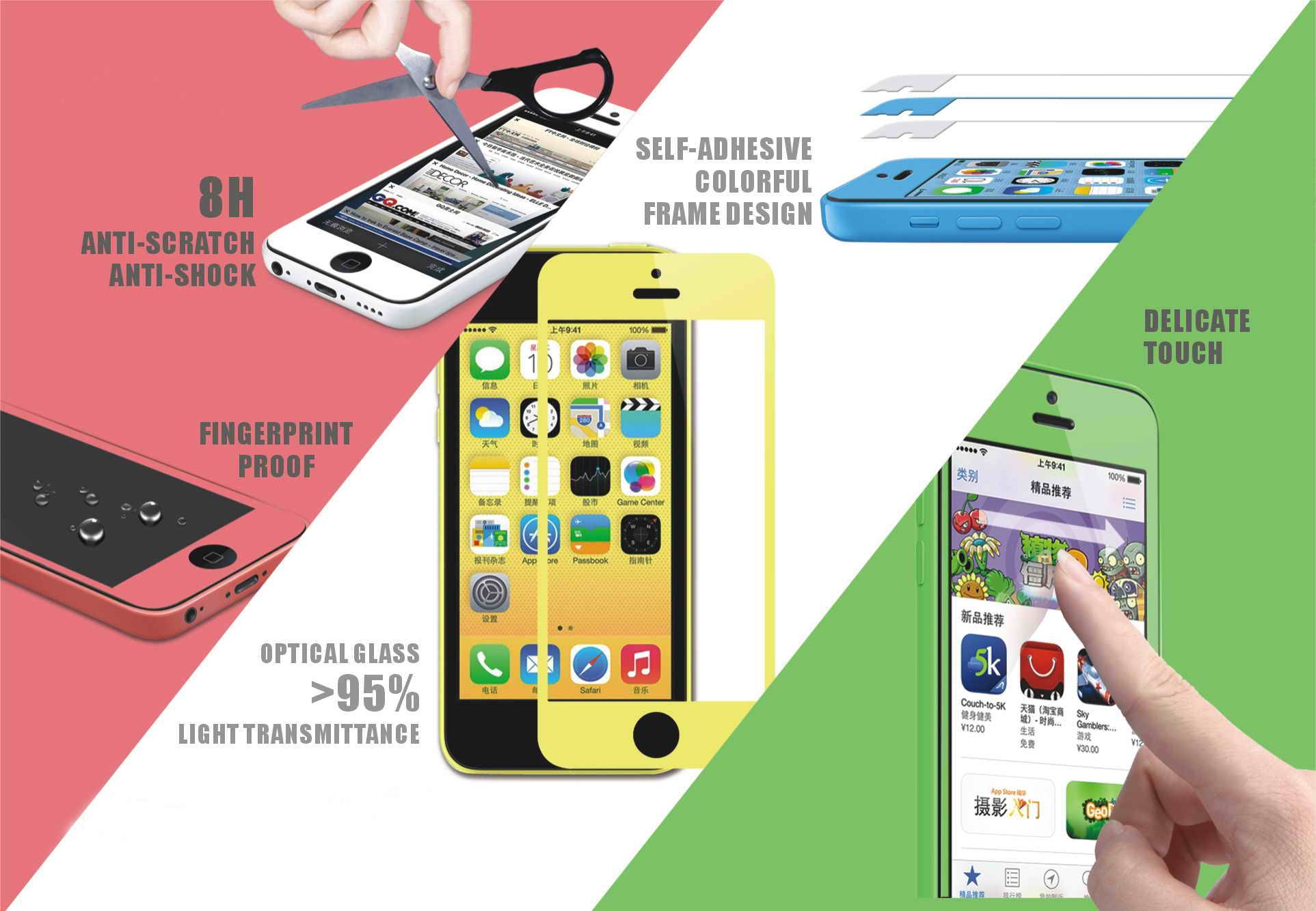 Iphone 5S 5C tempered screen protector