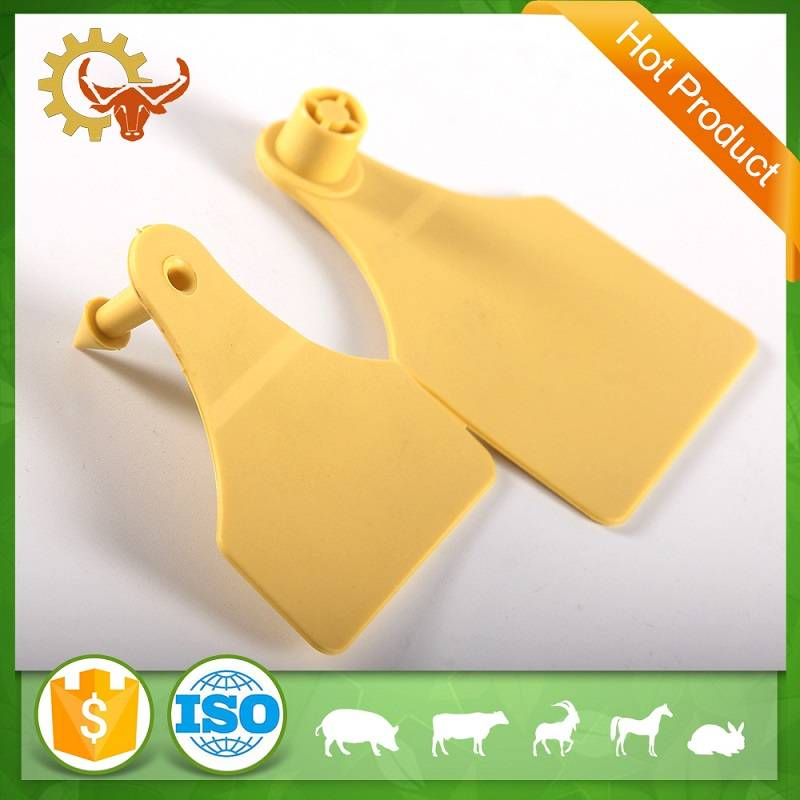 TPU yellow double-sided ear tag livestock
