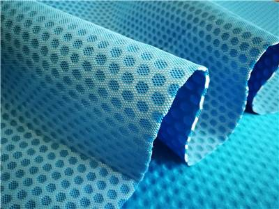 breathable tricot laminated EVA elastic mesh fabric
