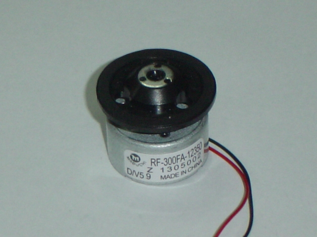 DVD motor with spindle