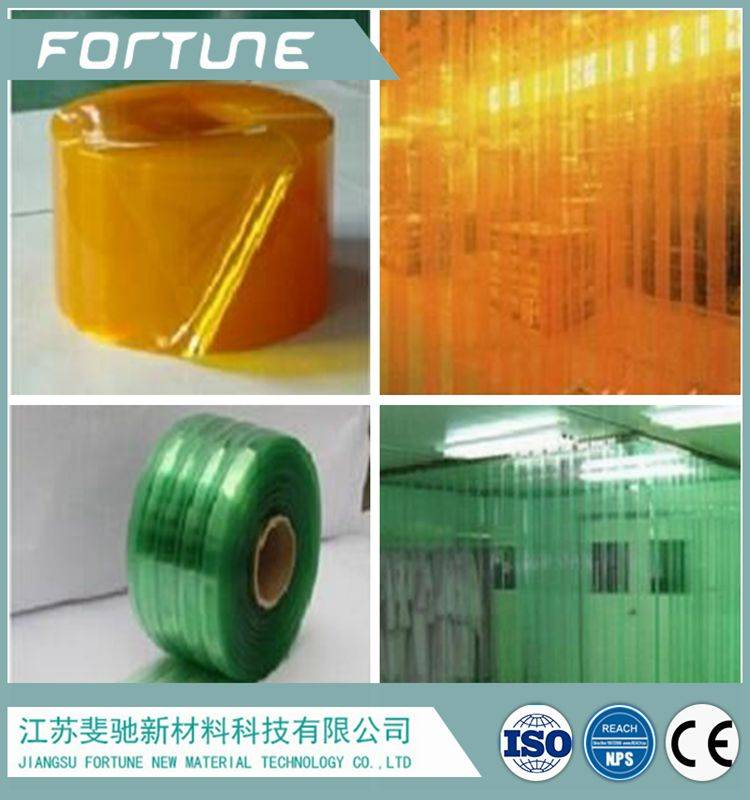 pvc film used for door curtain clear  or colorful transparent