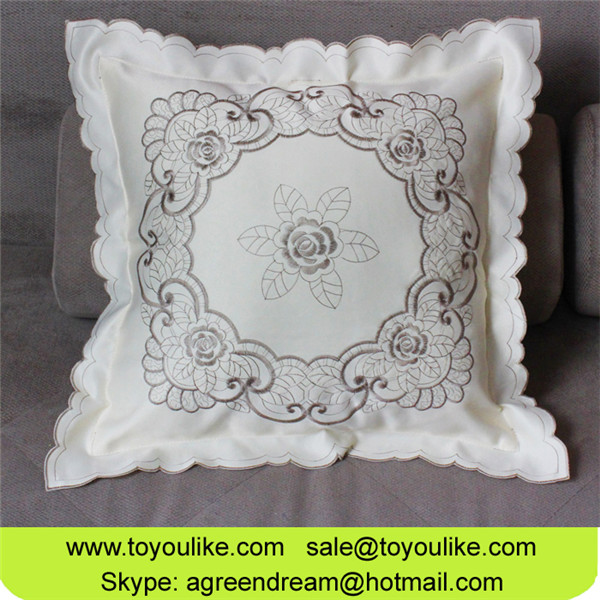 Toyoulike Floral Embroidered Decorative Throw Cushion Covers for Living Room Home Decor