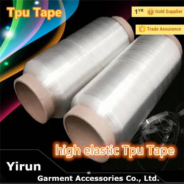 garment accessories TPU Clear tape  TPU tape transparent elastic tape