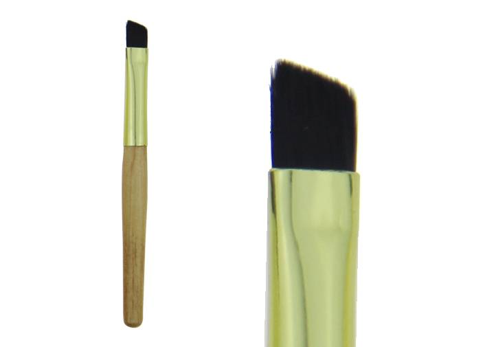 Bamboo Eyebrow Brush  With Black Hair /Gold