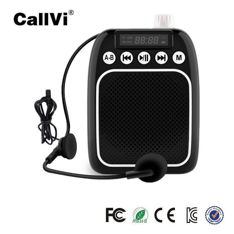 High quality Multifunction portable voice amplifier with microphone support TF card USB mini loudspe