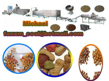 dry dog pellet food making machines in China