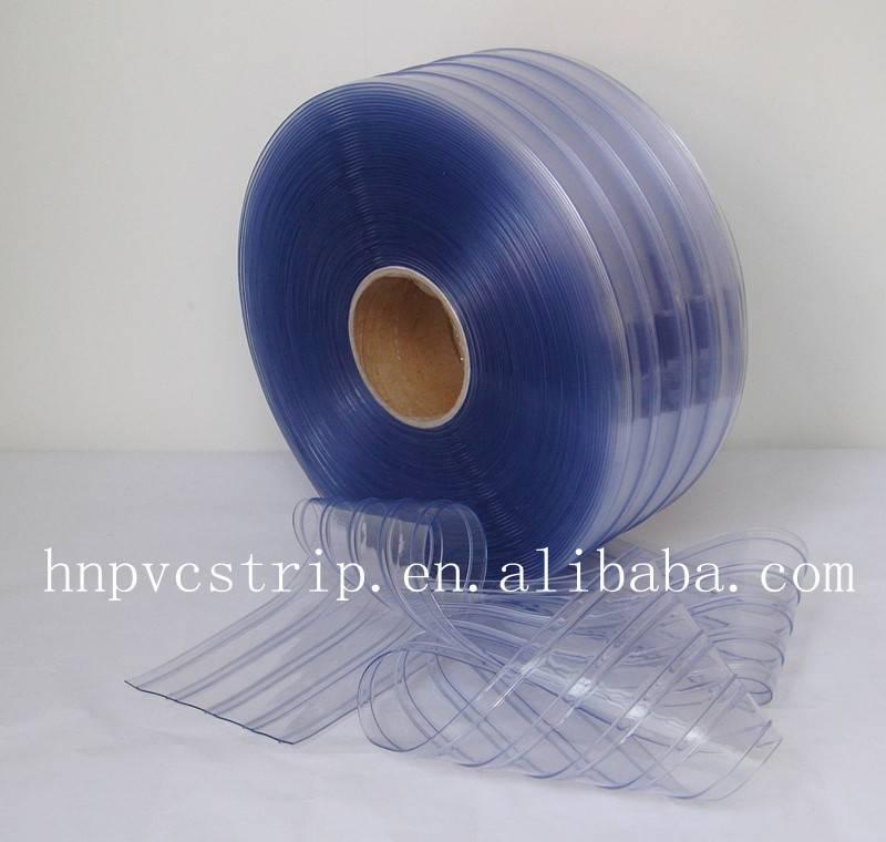 Clear ribbed pvc strip clear curtain