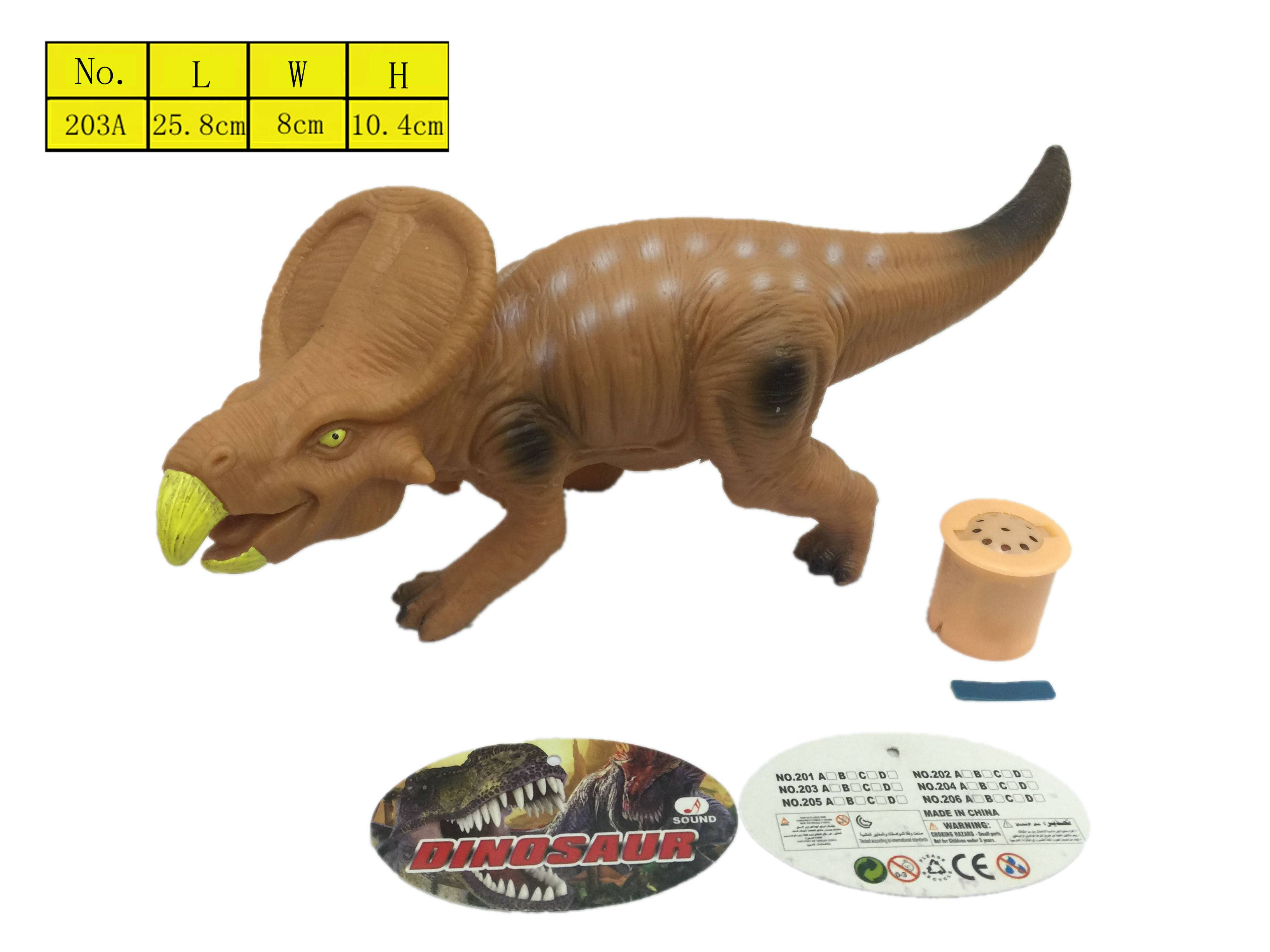 EN71 animals toys Dinosaur model vinyl toys PVC with sound Jurassic Park toys for kids