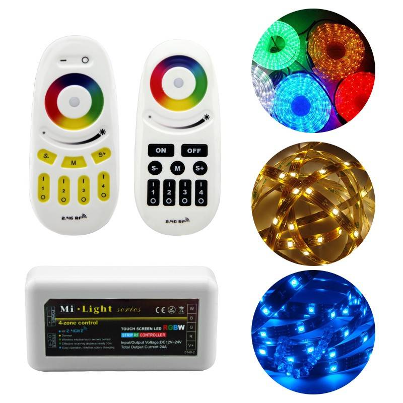 Dimmable RGB strip controller with rf remote dimmer,strip controller adjustable color changing and b