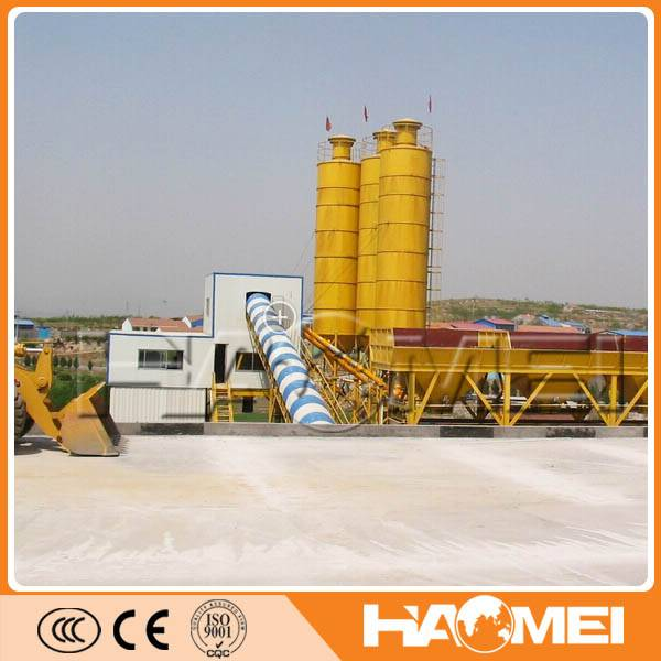 90m3/h wet twin shafts mixer concrete batching plant price