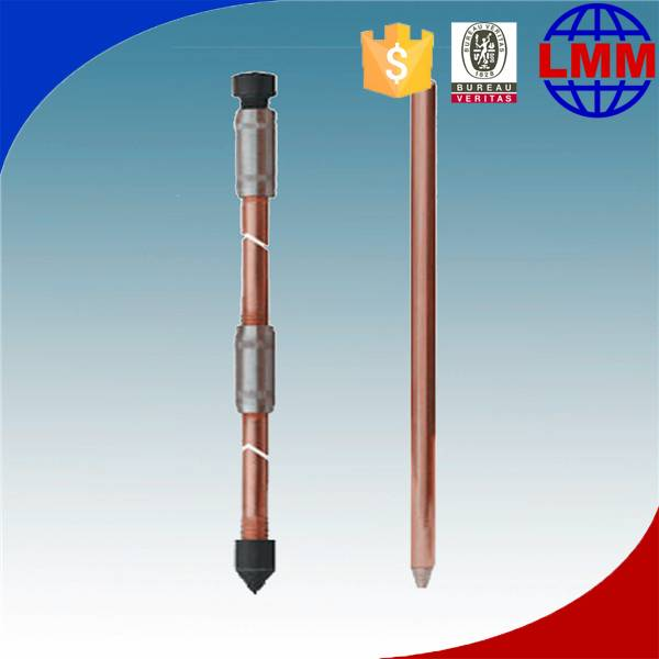 Rotary type ground copper rod operation