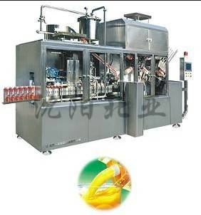 Milk filling and packaging machine