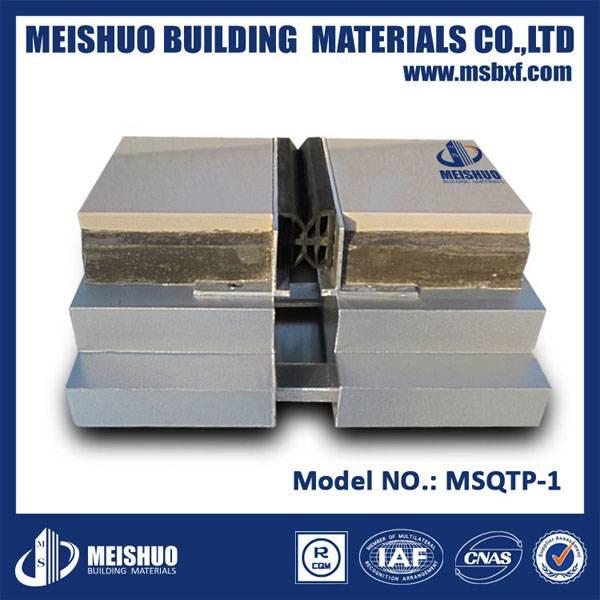 Aluminum floor tile movement joints in buildings