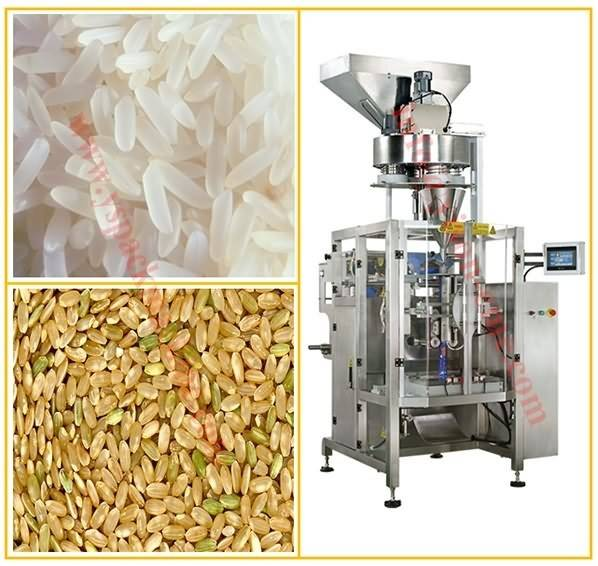 Automatic Packing Machine for Rice Grain Plues, Cereal with Volume Metering