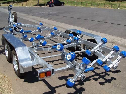 hot dip galvanized 15ft Australia standard I-BEAM steel/aluminum boat trailer for sale