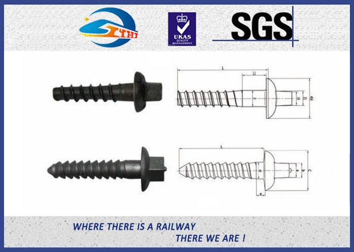 ZhongYue Railway Sleeper Screws Fasteners 90 degree without crack TUV