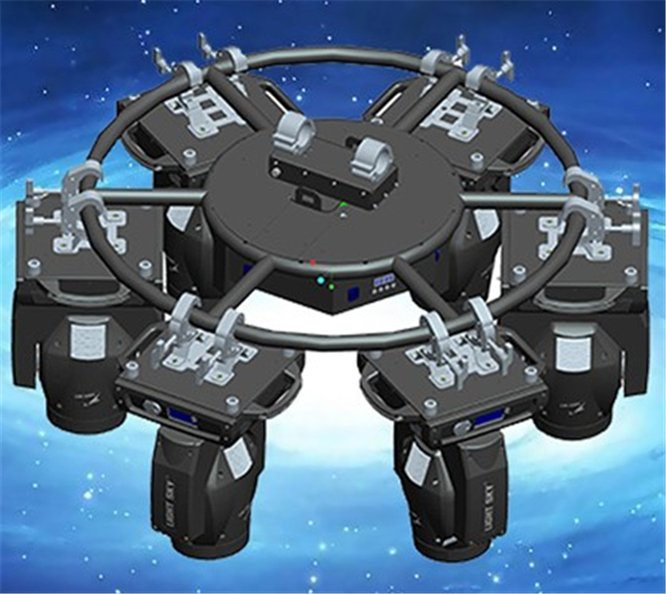 DMX512 1 channel mini rotating circle truss for moving head light