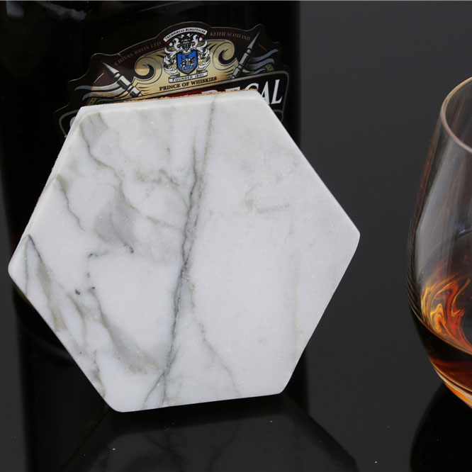 Newest Idea Home Decoration Hexagon Marble Coasters