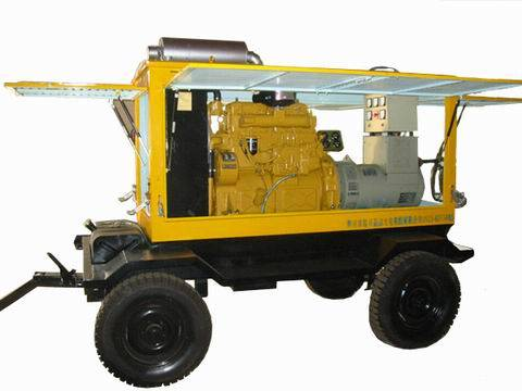 MPMP low-noise genset , water-proof, moveable/trailer mounting generating station series