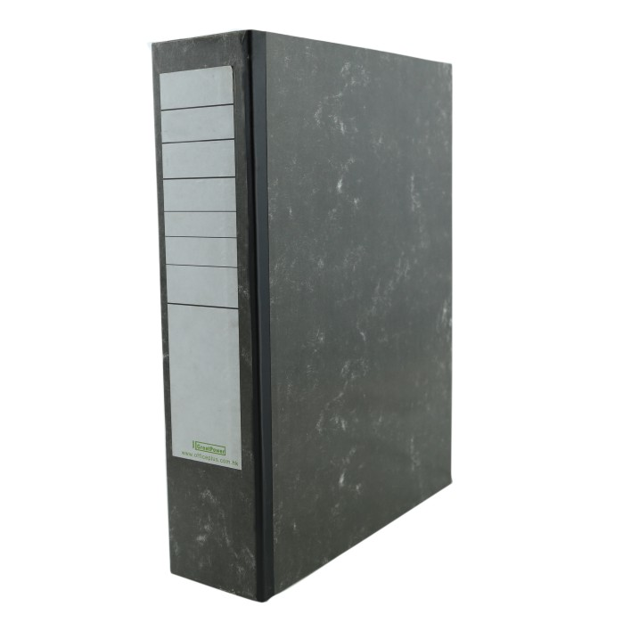 low price A4 manila paper box file with lock spring 10004