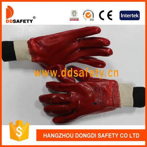 Red PVC glove-DPV100