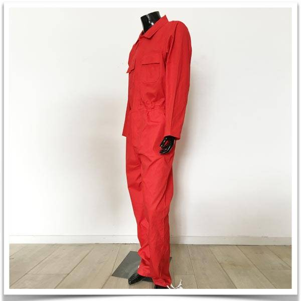 Red coverall suit
