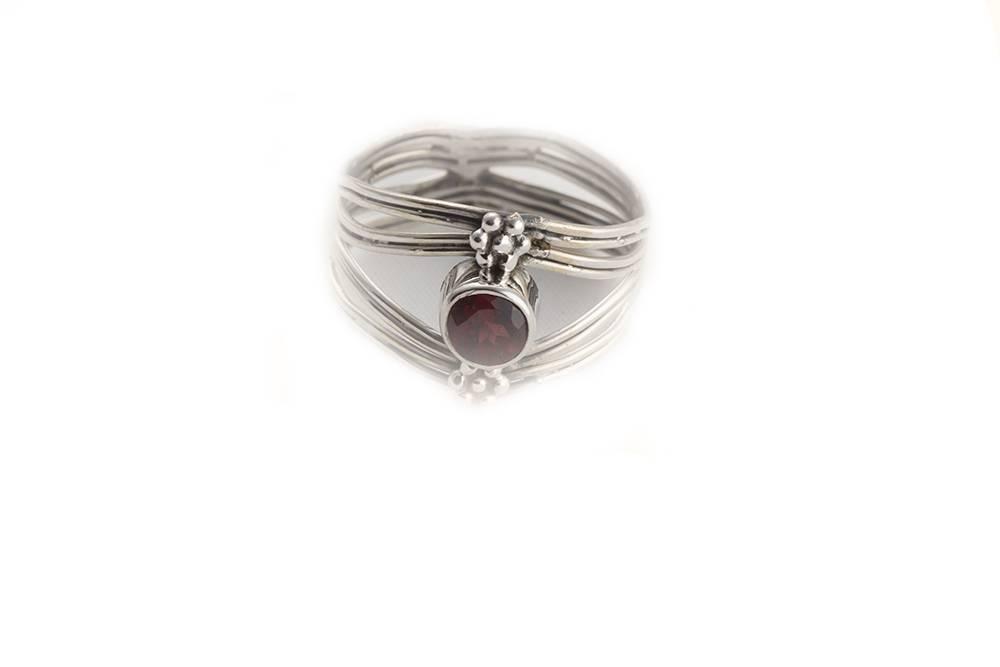 92.5 sterling silver Garnet Ring