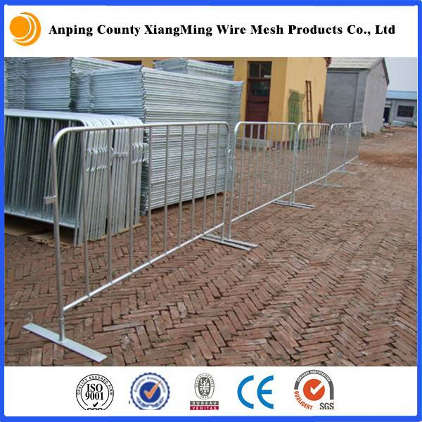 Galvanized/Powder Coated Crowd Control Barrier Pedestrian Barricade