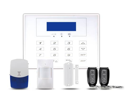 LCD character display demo wireless alarm system