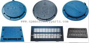EN124 Heavy Duty Ductile Cast Iron Borehole Covers With hinge And Lock System