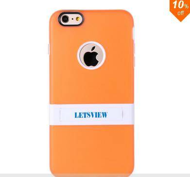 Iphone6 4.7 inch Phone Case With Colorful Bracket TPU + Double Color PC
