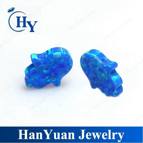 8x10mm blue synthetic opal hamsa hand