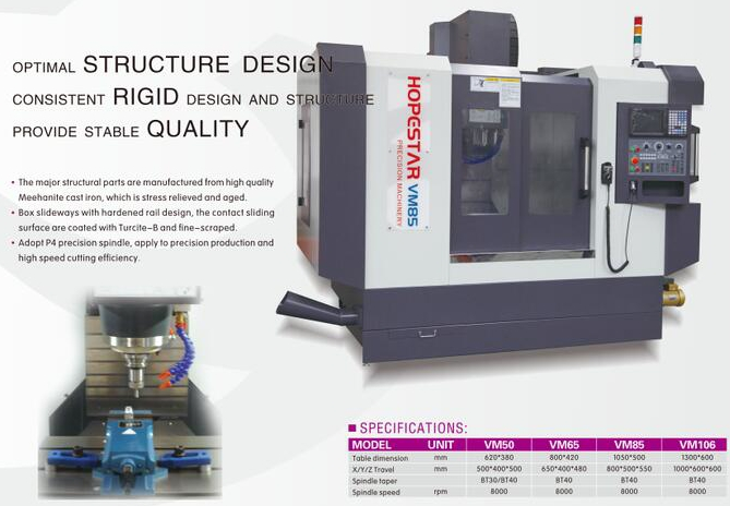 VM series precision cnc machining center
