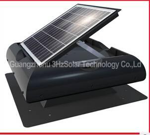 Solar ventilation fan