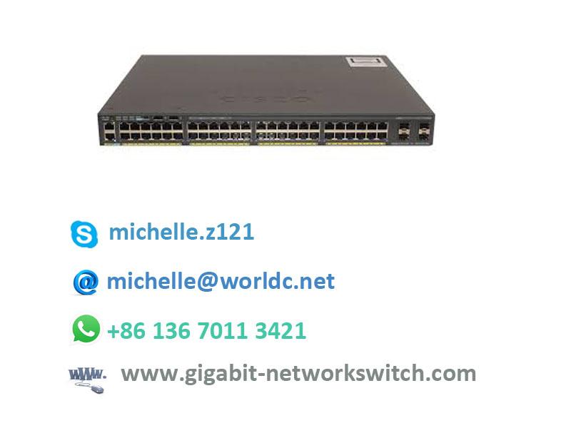 Cisco New Network Switch Catalyst C2960X 48 POE Lan Base Switch WS-C2960X-48FPS-L