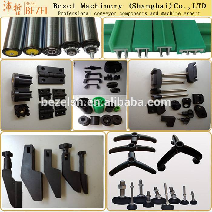 Black support base for conveyor /conveyor components