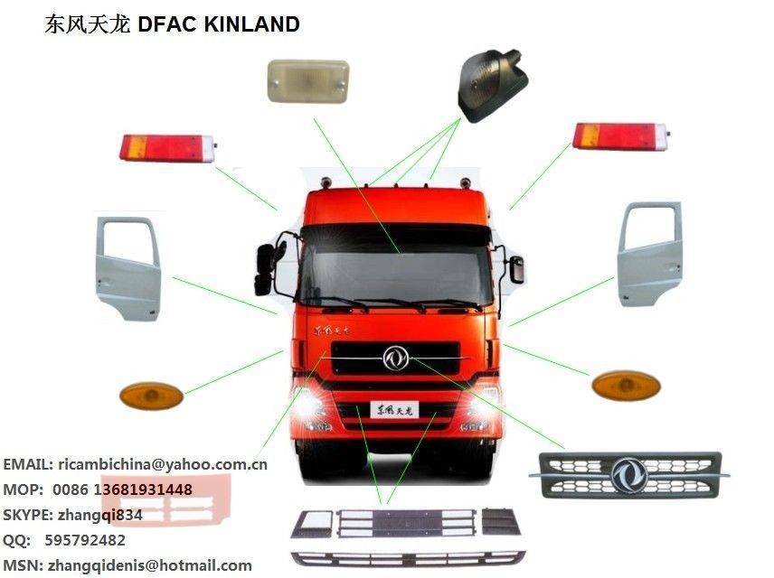 dongfeng spare parts and body parts