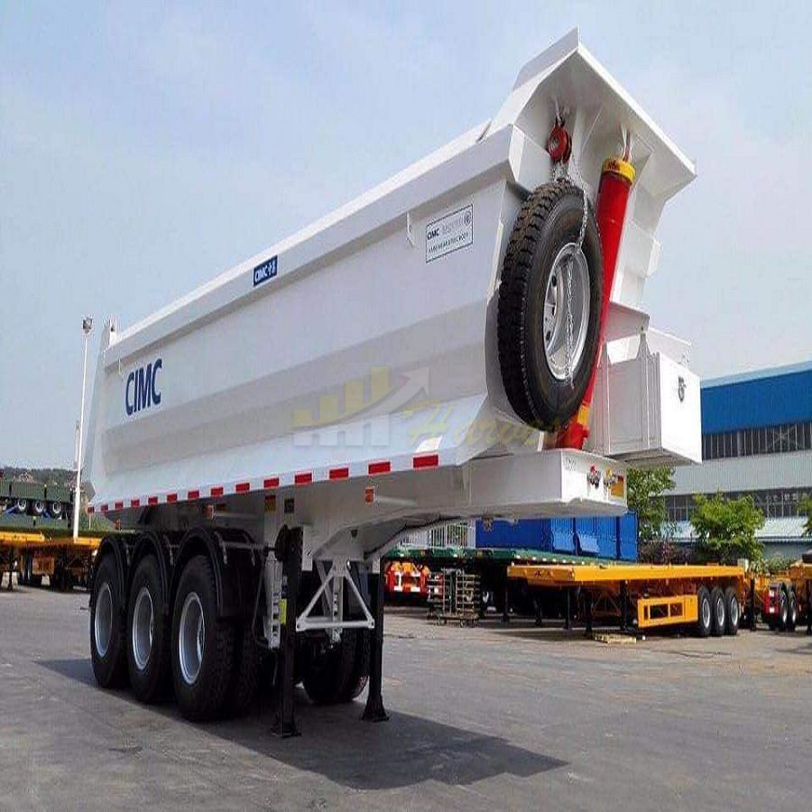 3 axles u shape dump trailer tipper trailer