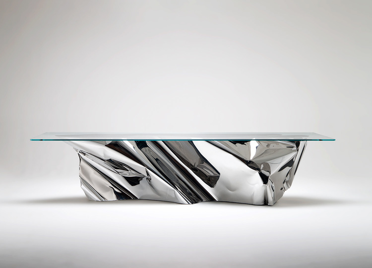Stainless steel dining tables for living room