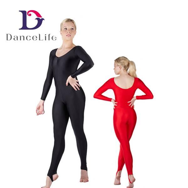 Long sleeve ankle length dance unitard