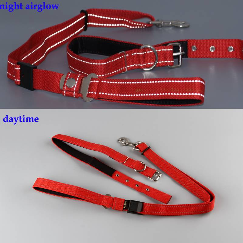 Dog Leash Rope and Collar sets with Nylon Reflective