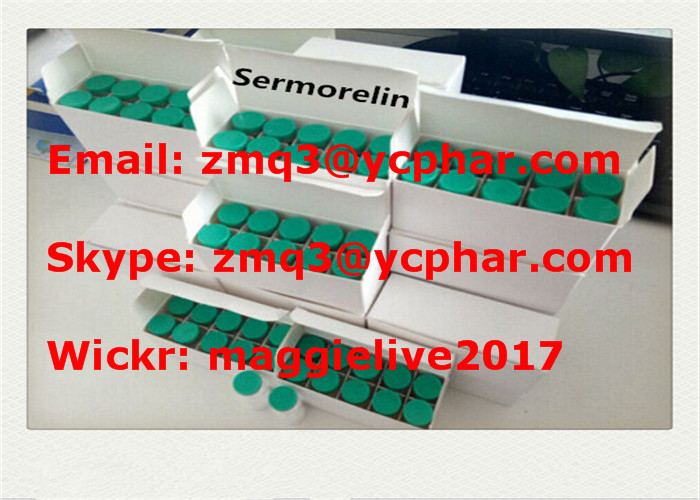 Sermorelin Acetate CAS 86168-78-7 Polypeptides Pharmaceutical Hormone for Body Building