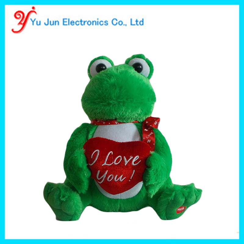 Animated singing frog valentine's gift