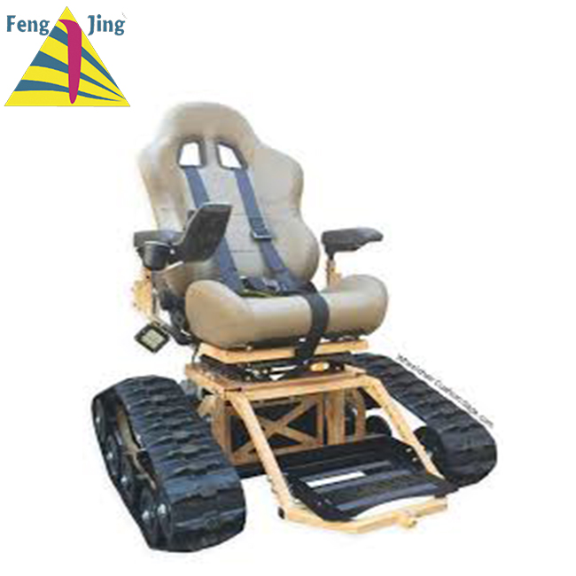 Rubber track undercarriage/rubber track for wheelchair