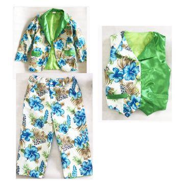 Custom Floral Jacket +waist coat + short trouser