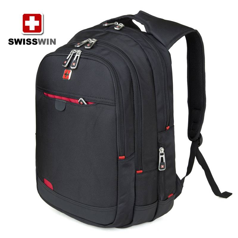 SWISSWIN Army Knife business computer backpack doubles backpack women black travel backpack